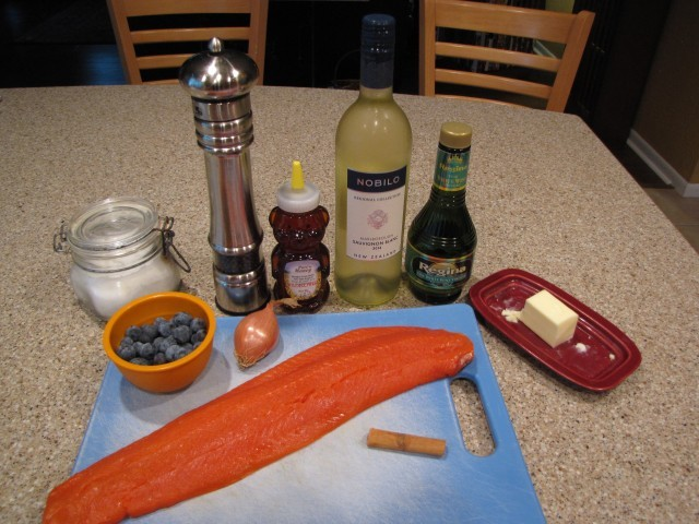 Baked Salmon with Blueberries Ingredients